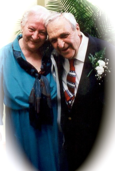 Senior husband and wife over 70 years later